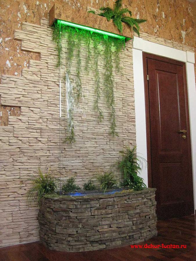 Галерея интерьерный водопад. aqua_design - озеленение в моск.