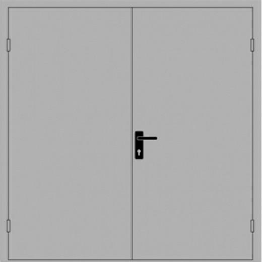 дверь стальная двухпольная неутепленная 1000 х 2200